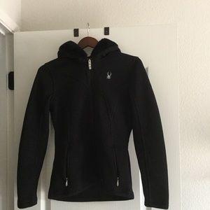 Spyder fur trimmed hooded jacket